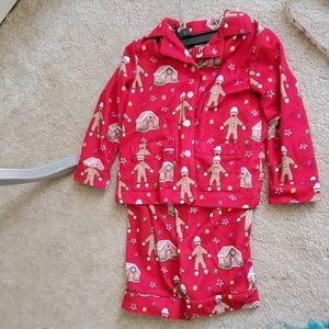 kids 3t nick & nora red Christmas pajama set